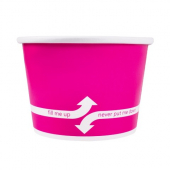 Karat - Hot/Cold Paper Food Container, 8 oz Pink