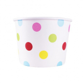 Karat - Hot/Cold Paper Food Container, 12 oz Dots