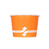 Karat - Hot/Cold Paper Food Container, 12 oz Orange