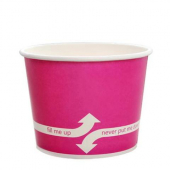 Karat - Hot/Cold Paper Food Container, 12 oz Pink