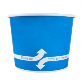 Karat - Hot/Cold Paper Food Container, 16 oz Blue