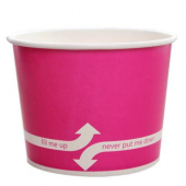 Karat - Hot/Cold Paper Food Container, 16 oz Pink