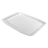 Genpak - Meat Tray, White, 10x14 Supermarket, 10x14x.88