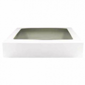 Cake/Bakery Box with Window Top, White, 16x12x3