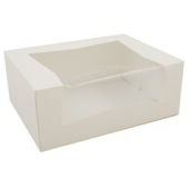 Cake/Bakery Box with Window Top, 1 Piece Full Top, White, 9x7x3.5