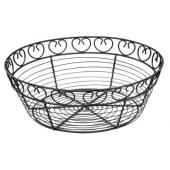 "Winco - Bread Basket, 10"" Round Black Wire"