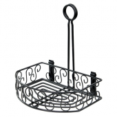 Winco - Condiment Caddy, 8.25x6.25 Straight Back Black Wire