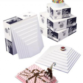 Cake Pad Wrap Around, Quarter Sheet White Single Wall