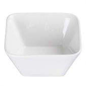 "Winco - Lauretz Bowl, 4.5"" Square Bright White Porcelain"