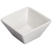 "Winco - Mescalore Mini Bowl, 3.125"" Square Bright White Porcelain"