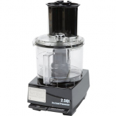Waring - Food Processor, 2.5 Quart PC Plastic Bowl and 3/4 HP Motor, with an S-blade, Sealed Whippin
