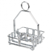 Winco - Cruet Rack for Salt/Pepper Shaker and Sugar Packets, Chrome Plated