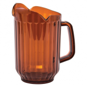 Winco - Pitcher, 60 oz Amber PC Plastic with Three Spouts