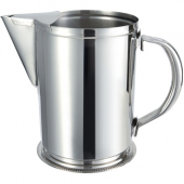 Winco - Water Pitcher with Ice Guard, 64 oz Stainless Steel