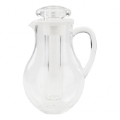 Winco - Water Pitcher with Ice Tube Core, 64 oz Clear PC Plastic