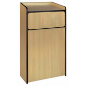 Winco - Waste Receptable, 35 Gallon Capacity, 44x23.75x23.5 Natural Wood Color