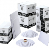 Cake Pad Wrap Around, Full Sheet White Double Wall