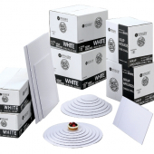 Cake Pad Wrap Around, Half Sheet White Double Wall