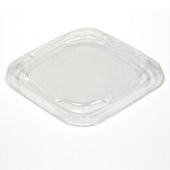 "Pactiv - Deli Container Snap Automated Lid, Fits 4"" Square Container, Clear PET"