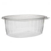 Pactiv - EarthChoice Deli Container, Hinged 48 oz Clear PET Plastic