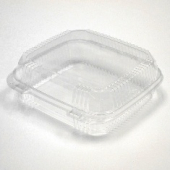 Pactiv - Food Container, 1 Compartment Hinged Smartlock Clear Plastic, 8x8.5x3