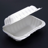 Pactiv - EarthChoice Food Container, 9x6 Hoagie Hinged White