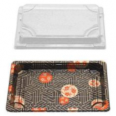 Sushi Tray and Lid Combo, 7.3x5x.67