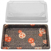Sushi Tray and Lid Combo, 8.5x5x.5